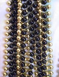 black and gold mardi gras fleur de lis new orleans mardi gras bead connection