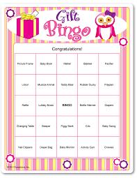 baby shower gift bingo printable baby shower gift bingo party ideas baby