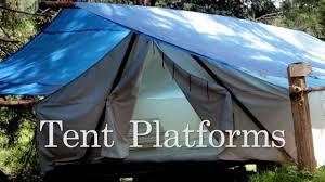 tent platform tent platforms youtube