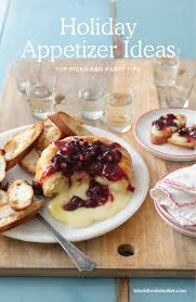 holiday appetizer ideas baked brie with sour cherry spread