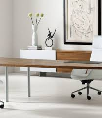 new architectural white modern desk ambience doré