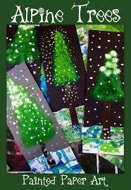 alpine trees1 001 paint lessons pinterest class projects and