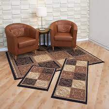 amazon com achim home furnishings capri 3 piece rug set sarouk