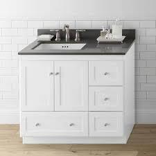 elegant white shaker bathroom vanities rta cabinet store
