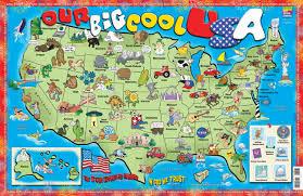 map usa big gallopade international our big cool usa poster map