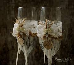 wedding glasses wedding chagne flutes toasting glasses rustic toasting flutes
