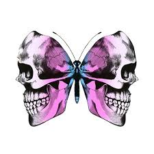 skull butterfly tattoo design