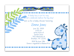 baby shower invitation wording for boy or baby shower