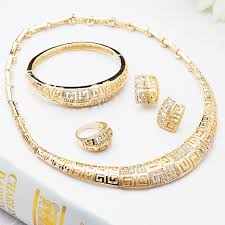 lady gold necklace images African jewelry sets 18k gold plated nigerian wedding african jpg