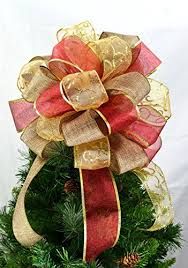 christmas tree bows tree topper bows christmas tree bow topper