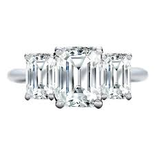 three emerald cut engagement rings engagement ring 3 emerald cut engagement ring like