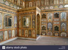 painted wall panels in the dining room of ahmet iii fruit room in