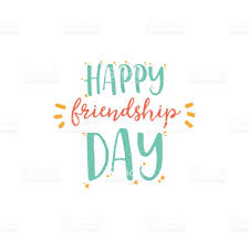 happy friendship day vector typographic colorful design badges for