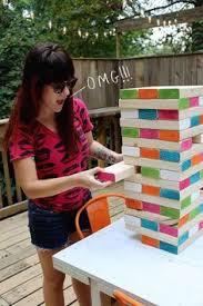 Backyard Jenga Set by Diy Outdoor Jenga Set Abode Pinterest Outdoor Jenga Jenga