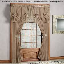 Swag Valances For Windows Designs Emelia Sheer Fan Swag Valances
