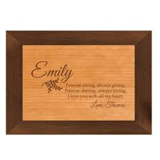 personalized wooden boxes grace personalized wood box