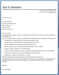 best healthcare cover letter examples livecareer health care