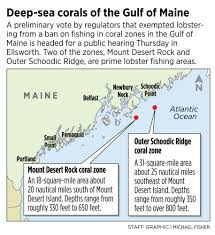 maine lobstermen worry about possible closure to protect coral