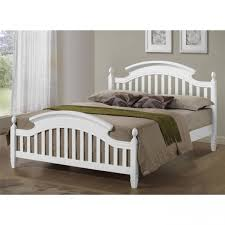 Wooden Bed Frame Double by White Arched Wooden Bed Frame Available In Single Double And