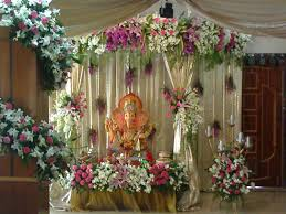 Decorations At Home by Ganpati Decoration Ideas At Home Pooja Room Decoration