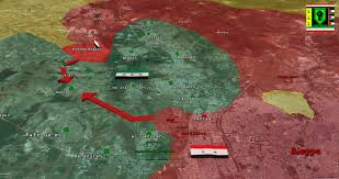 Map Of The Northwest Update Government Advance Northwest Of Aleppo City