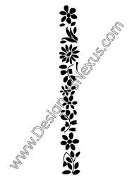 fashion vector graphic floral ornament border v3 designers nexus