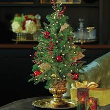 Pre Decorated Tabletop Lit Christmas Trees 168 best christmas decorating ideas images on pinterest