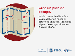 home fire escape plan outreach materials