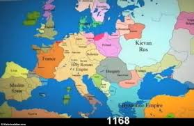 map of europe russia middle east time lapse shows constantly changing borders in europe