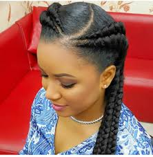 nigeria women hairstyles check out double braids hairstyle currently trending for african