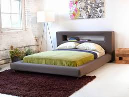 bed frame with lights bedroom white storage headboard headboards with lights and shelves