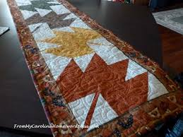 maple leaf table runner from my carolina home