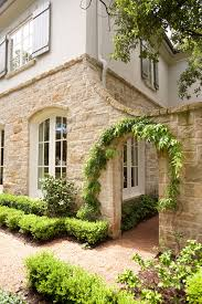 french country bookcase exterior traditional with secret garden