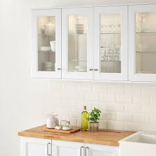 ikea frosted glass kitchen cabinets axstad glass door matt white 18x30