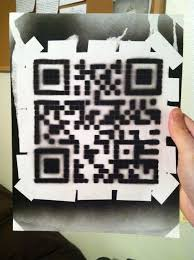 simple qr code spray paint stencil 7 steps with pictures