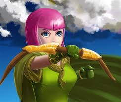 clash of clans wallpaper background clash of clans default archer by nders on deviantart