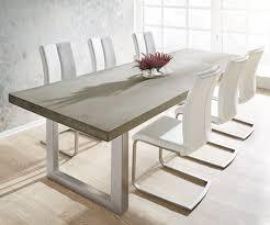 Esszimmertisch Tisch Esstisch Zement 260x100 Grau Beton Optik Gestell Breit Möbel
