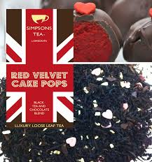 red velvet cake pops red velvet chocolate loose leaf tea