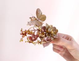 butterfly hair clip ambrosia gilt butterfly hair clip