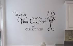 kitchen wall decals decal stickers wine clock wall art decal kitchen decals