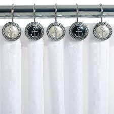 Decorative Curtain Hooks Coffee Tables Seahorse Shower Curtain Hooks Anchor Bathroom