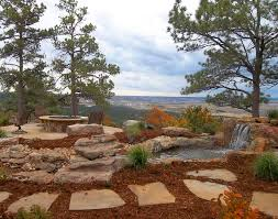Fire Pit With Water Feature - denver landscapes best landscaping design company