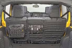 jeep wrangler gear smittybilt g e a r molle rear seat cover 2 pouches 08 12 4dr