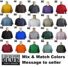 wholesale t shirts ebay lot 6 bulk proclub heavyweight t shirt mens plain blank crewneck wholesale s 7xl