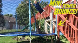 diy tower bounce ultimate backyard trampoline set up ep 1