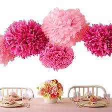 paper flowers bekith 20 pack tissue paper flowers pom poms wedding