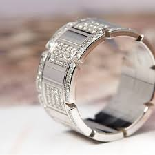 cartier rings jewelry images Cartier mens 18k white gold tank francaise diamond ring com140 jpg