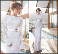 wedding dress murah cheap charming lace mermaid wedding gown with sleeve model