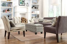 Armless Accent Chairs Living Room Modern Plush Oversized Armless - Floral accent chairs living room