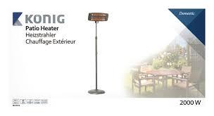 quartz patio heater kn ph10 könig quartz patio heater 2000 w black electronic